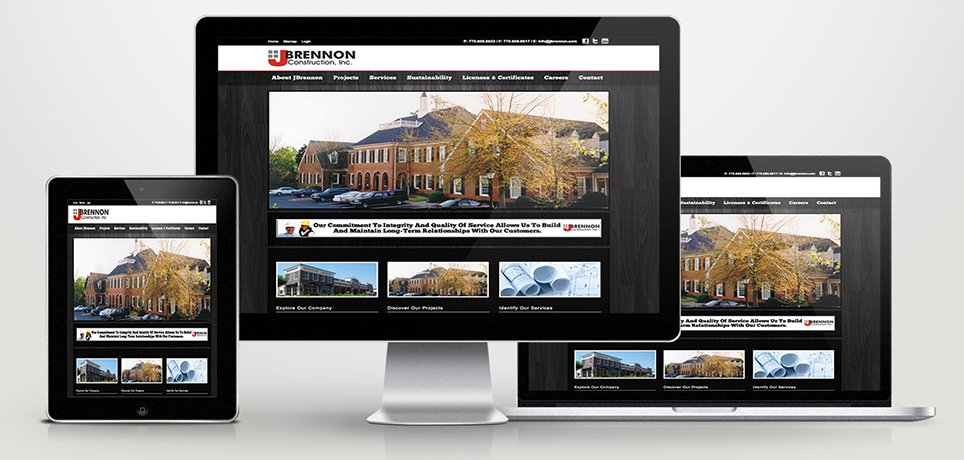 Muntz Designs, Phiadelphia Web Design, JBrennon Construction