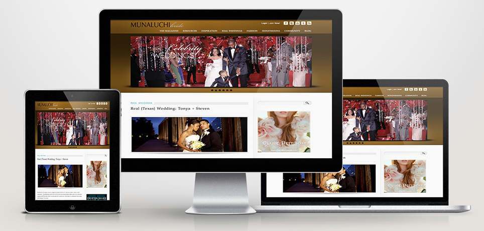 Muntz Designs, Phiadelphia Web Design & Development - Munaluchi Bridal Magazine